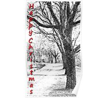 Canal Pathway - Winter Scene Poster