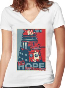 Hope - No Hope..Exterminate Women's Fitted V-Neck T-Shirt
