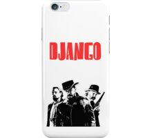 Django Unchained illustration  iPhone Case/Skin