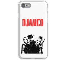 Django Unchained illustration  iPhone Case/Skin