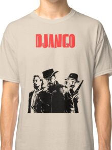 Django Unchained illustration Wild West Style Poster Classic T-Shirt