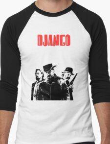 Django Unchained illustration Wild West Style Poster Men's Baseball ¾ T-Shirt