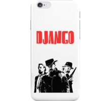 Django Unchained illustration Wild West Style Poster iPhone Case/Skin