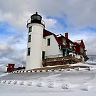 Point Betsie Lighthouse by Debbie  Maglothin
