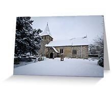 Detling Church in Snow Greeting Card