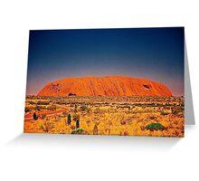 The Big Rock, Uluru Greeting Card