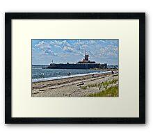 Compass Rose Beach Rhode Island Framed Print