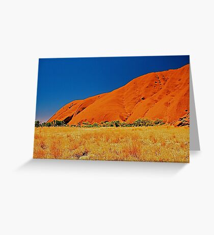 Uluru Slopes Greeting Card