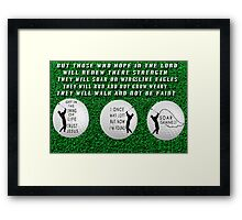 ㋡ GET INTO THE SWING OF LIFE GOLFERS PICTURE WITH A MESSAGE ㋡ Framed Print