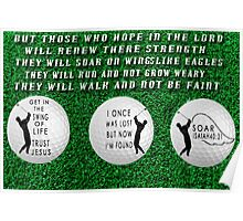㋡ GET INTO THE SWING OF LIFE GOLFERS PICTURE WITH A MESSAGE ㋡ Poster