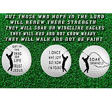 ㋡ GET INTO THE SWING OF LIFE GOLFERS PICTURE WITH A MESSAGE ㋡ Photographic Print