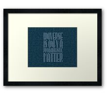 universe quantic Framed Print