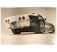 '69 Vette, Low down Poster
