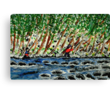 The Winter Anglers Canvas Print