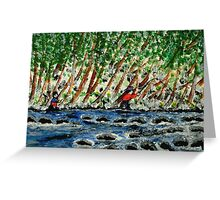 The Winter Anglers Greeting Card