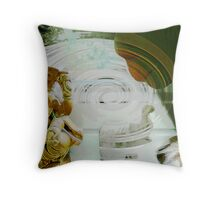 Ganesha Glowing on Elephant talking with Holy Spirit Throw Pillow