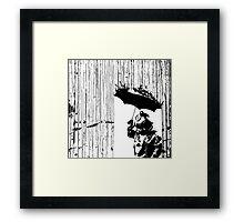 toxic rain     Framed Print