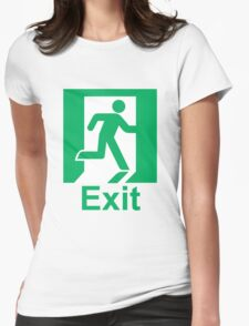 Exit Womens Fitted T-Shirt