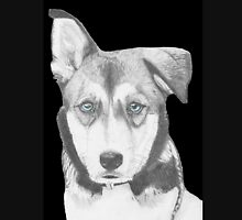 Husky Shepherd Crossbreed with Blue Eyes T-Shirt