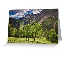 Alpine Light Greeting Card