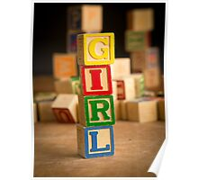 Its a GIRL - Birth Announcement Card Poster