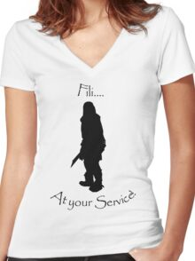 Fili bff shirt Women's Fitted V-Neck T-Shirt