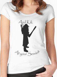 Kili bff shirt Women's Fitted Scoop T-Shirt