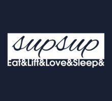 Eat Lift Love Sleep - Variation 3 Kids Tee