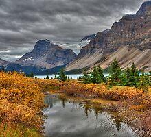 Crowfoot Glacier and Bow Lake by JamesA1