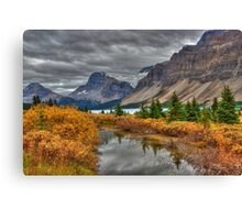 Crowfoot Glacier and Bow Lake Canvas Print