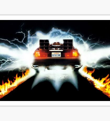 Back To The Future Art Sticker