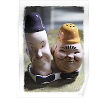 Laurel and Hardy salt and pepper set Poster