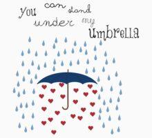 under my umbrella by Inzaie