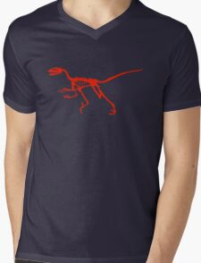 Dancing dinosaur Mens V-Neck T-Shirt