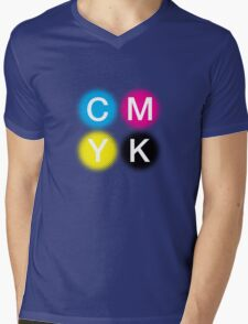 CMYK 2 Mens V-Neck T-Shirt