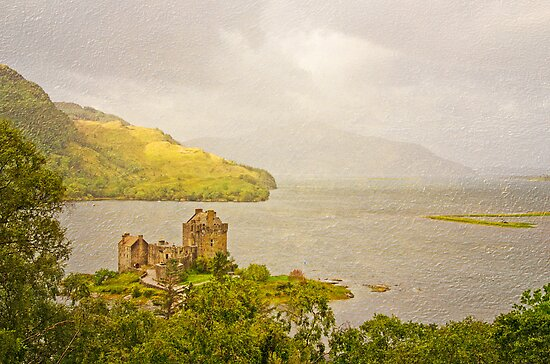 Eilean Donan Castle Textured by Chris Thaxter