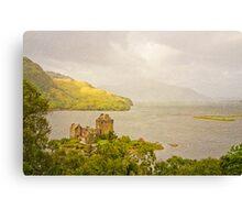 Eilean Donan Castle Textured Canvas Print