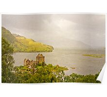 Eilean Donan Castle Textured Poster