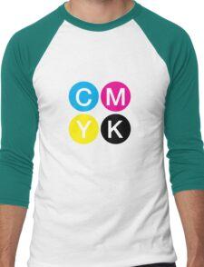 CMYK 4 Men's Baseball ¾ T-Shirt