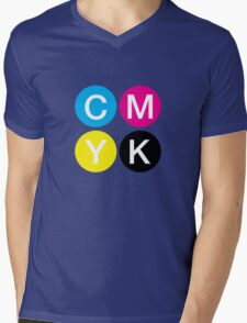 CMYK 4 Mens V-Neck T-Shirt