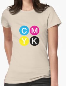 CMYK 4 Womens Fitted T-Shirt