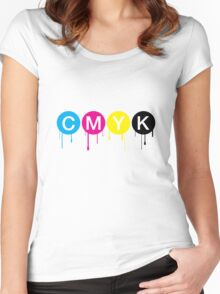 CMYK 5 Women's Fitted Scoop T-Shirt