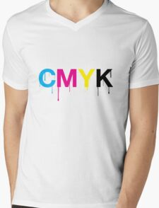 CMYK 6 Mens V-Neck T-Shirt