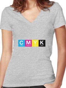CMYK 9 Women's Fitted V-Neck T-Shirt
