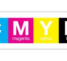 CMYK 9 Sticker