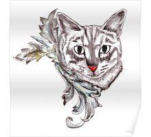 Posh Cat Poster