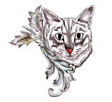 Posh Cat Photographic Print