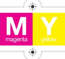 CMYK 10 Sticker