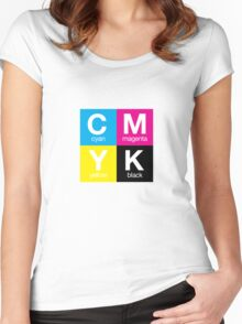 CMYK 11 Women's Fitted Scoop T-Shirt