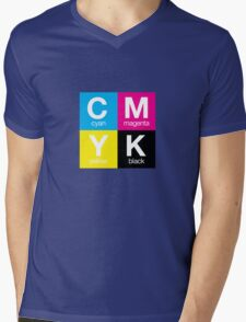 CMYK 11 Mens V-Neck T-Shirt
